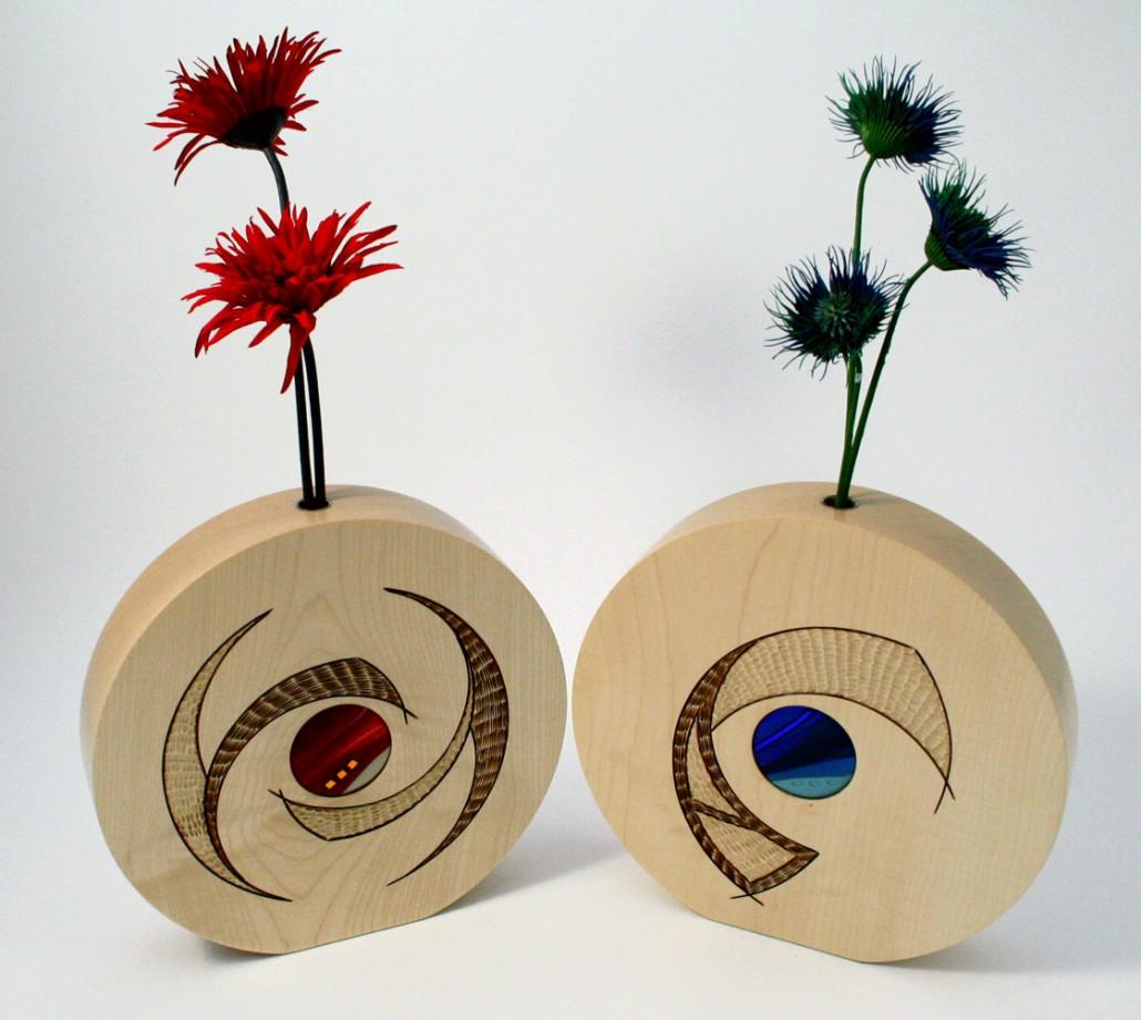 Mini porthole vases