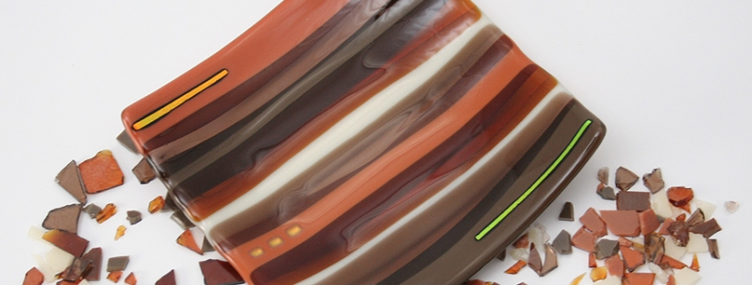 Medium Sushi Dish Brown/Cream