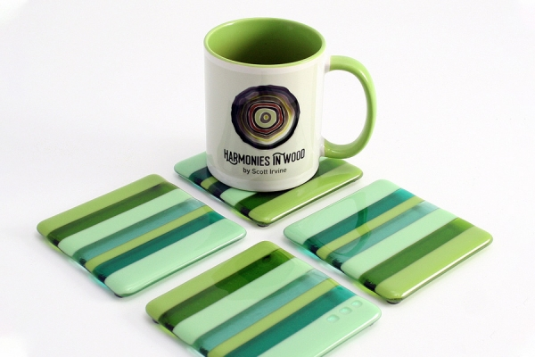 Fused-Glass-Coasters-4-pack-green