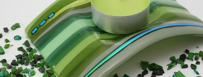Single Candle Arc Dish - Tealight holder
