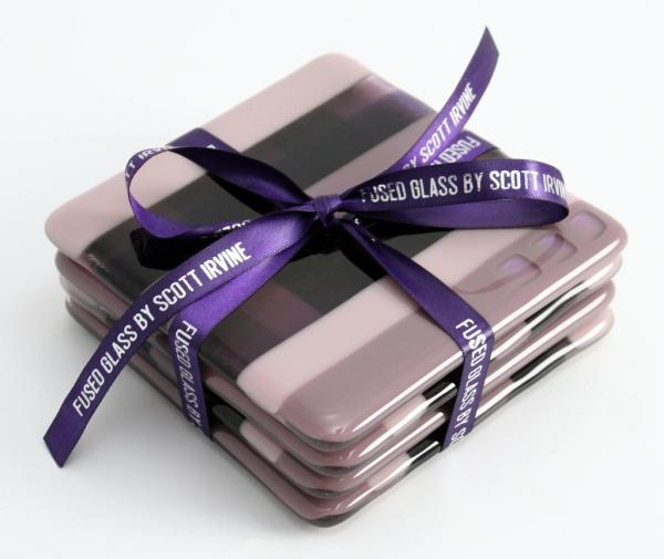 Fused Glass Coasters Purple